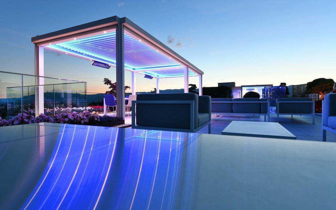 Design extérieur d'un somptueux attique sur les toits de Genève